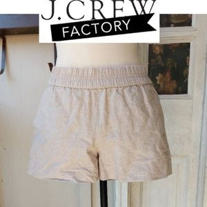 J. Crew Factory Metallic Shimmer Shorts 0